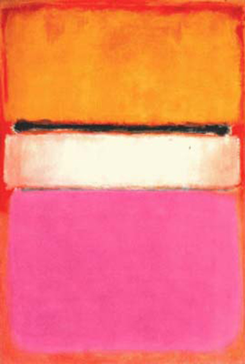 1950: Mark Rothko's White Center (Yellow, Pink and Lavender on Rose)