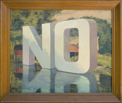 """no"" by wayne white"