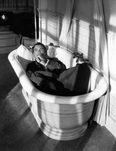 Cary Grant of Notorious, Charade and North by Northwest. In a bathtub.