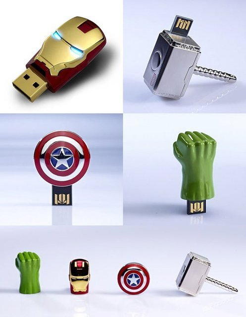 jaymug:  The Avengers USB Sticks