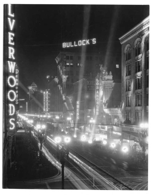 Downtown Los Angeles. Broadway. 1931.