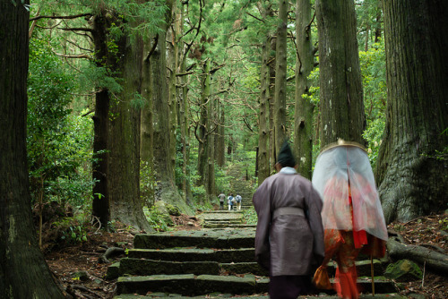 Kumano Kodo pilgrims by ippei + janine on Flickr.