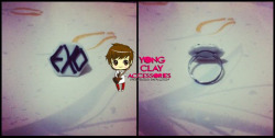 """Yong Clay Accessories"" EXO Ring 60php Just click the photo if you're interested. Jinja gomawo! :) <3"