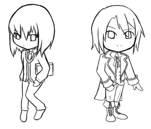 Lines for what will probably hopefully eventually be keychains? Maybe? Starting out with my favorite and the roomie's. Am I getting predictable yet?