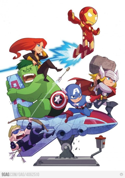 earllovescompany:  Cute Avengers by Gurihiru
