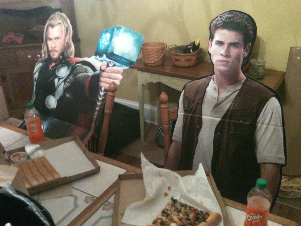 Gale and I sure were hungry.