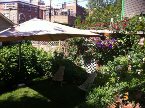(via Little Garden, Big Sun: Taming The Heat With A Mega Umbrella | Apartment Therapy)