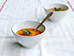 Sweet Potato & Pear Soup with Sage     (click image for recipe)