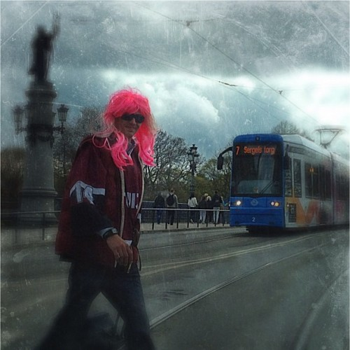 The pink wig (Taken with instagram)
