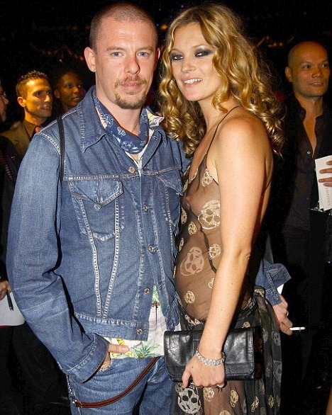 Kate Moss with the late Lee Alexander McQueen.
