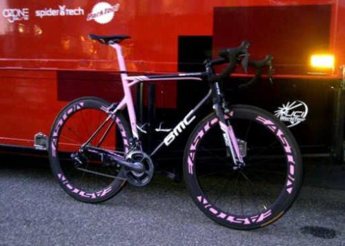 Bikes we like: Taylor Phinney's Giro Bike. BMC bike in the Maglia Rosa Edition.  [be]