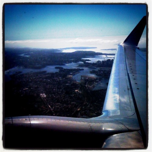Flying out of Sydney #amazing #Sydney #planewindow #Australia #popular #awesome #travel #flying #city (Taken with instagram)