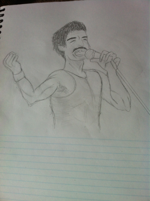 Basic drawing of Freddie just from the top of my head XD should I keep it and go over it or just scrap it and start over?