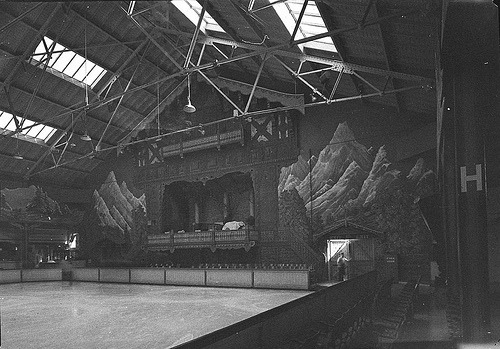 Interior of the Glaciarium Ice Rink, Sydney, May 1940.