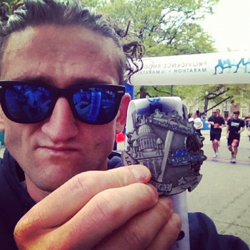 providence half marathon 1hr 23min. piece of cake (Taken with instagram)