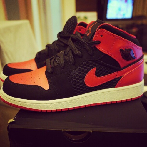 Convinced my sister to get a pair of Jordan 1s :) (Taken with instagram)