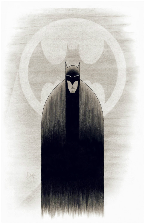 littlebunnysunshine:  Marc Hempel Original Art - Batman