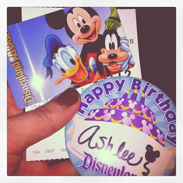 Happy Birthday to me!!!! #disneyland  (Taken with instagram)