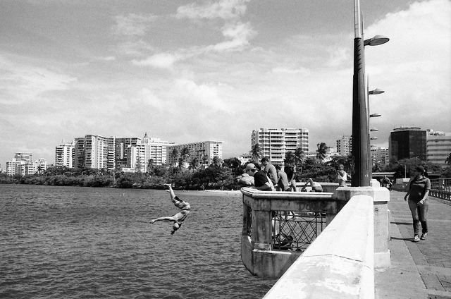 Laguna del Condado on Flickr.Via Flickr: San Juan, Puerto Rico.  Nikon F3 HP | Nikkor 28mm f/2.8 AIS | Ilford Delta 400 @ 800