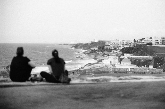 View from El Morro on Flickr.Via Flickr: San Juan, Puerto Rico.  Nikon F3 HP | Nikkor 50mm f/1.2 AIS | Ilford Delta 400 @ 800