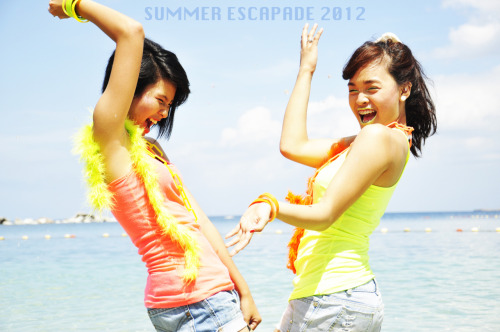Summer Escapade Photoshoot. Location: Canyon Cove, Nasugbu, Batangas Date: April 22, 2012 Photographers: Jo Arellano, Clare del Rosario, Vyhr Castro, Awie Cardenas  Motion editor and Stylist: Carl ChavezBehind the scenes: Cheng Canlas Make Up Artist: Cris Panes Models: Carllyn Bacila and Shaina Alejandrino  Other Photos are posted on Fb :D