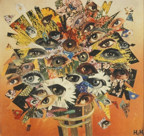calyx, museumuesum:           Hannah Hoch  Bouquet Of Eyes, 1930 photomontage