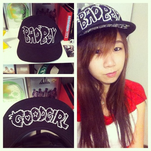 finished making my bad boy; good girl hat! (Taken with instagram)