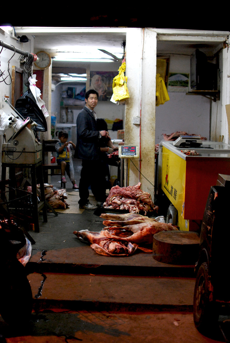 Midnight meat delivery. Shanghai, China, 2012. Alex Muntean