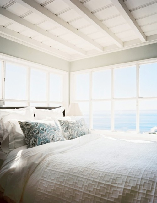a beach cottage with a dream view in the morning