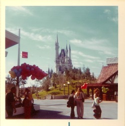 This picture comes from my family's 1972 trip to the Vacation Kingdom of the World. I love the hill next to Cinderella Castle. It's actually still there, but covered by 40 years of growth.