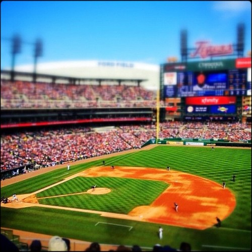 Comerica Park - May 5 #procamera #snapseed #tiltshift #detroit #tigers  (Taken with instagram)