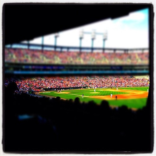 Comerica Park - May 5 #miniaturecam #tiltshift #iphone #detroit #tigers  (Taken with instagram)