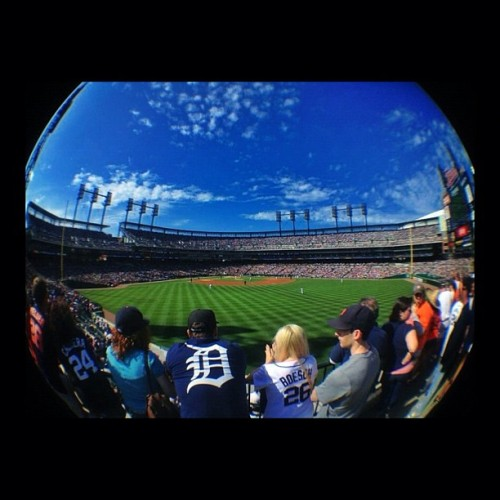 Comerica Park - May 5 #iphone #fisheye #olloclip #procamera #snapseed #detroit #tigers  (Taken with instagram)