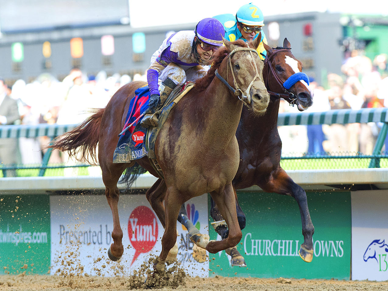 I'll Have Another outruns Bodemeister to eek out a victory at Saturday's 138th running of the Kentucky Derby at Churchill Downs in Lousiville. (Bill Frakes/SI) GALLERIES: The Race | The Hats | The Favorites' Fates