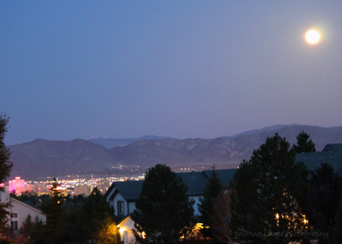 Supermoon over Reno, NV last night.