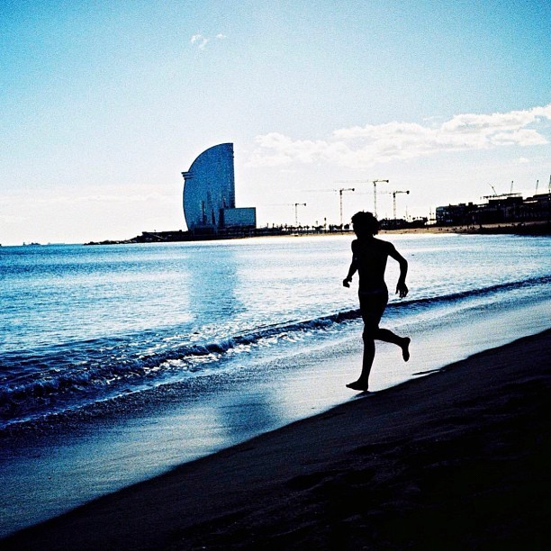 Barceloneta Beach. Barcelona. (Analog Photo).