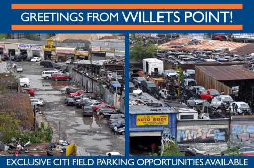 Proposed postcard for the Mets Team Store at Citi Field. Features scenic photography shot from the Pepsi Porch.