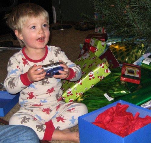 For Christmas in 2007, at the age of 2 1/2, Parker asked Santa for a camera.