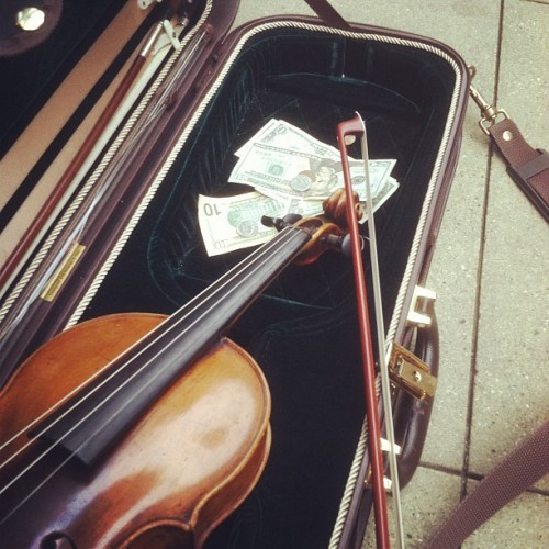 Making money on the streets of Chicago playing Debby :PP (Taken with instagram)