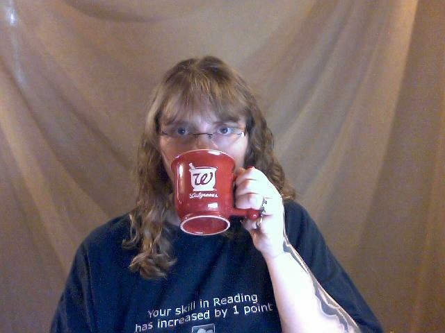 Day 375: Walgreens mug. A bit uncomfortable to use.  Countdown: 6 to go.
