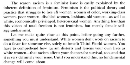 "Barbara Smith, ""Racism and Women's Studies"", All the Women are White, all the Blacks are Men, But Some of Us Are Brave, p. 49."