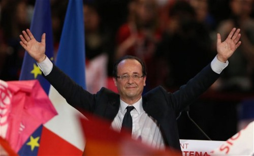 shortformblog:  zainyk:  Paris, 8pm: OFFICIAL - FRANCOIS HOLLANDE ELECTED PRESIDENT OF FRANCE Becomes first Socialist President since Francois Mitterrand left office in 1988.  Incroyable.  Check Reuters for live updates.  VE LE FRANCE. VE LE HOLLANDE.