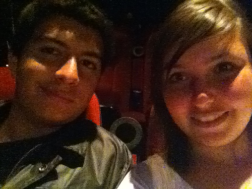 Me and my boyfriend at the movies yesturday night:) I love him so much:)