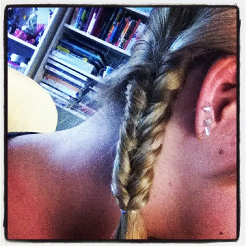 So after a fajillion times I have finally perfected the fishtail braid. :) (Taken with instagram)