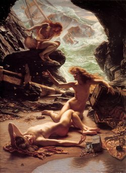 Edward John Poynter, The Cave of the Storm Nymphs (1903).