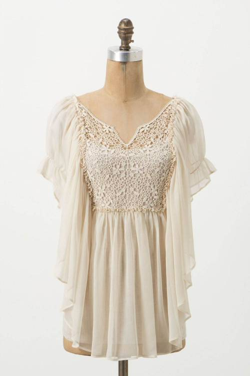 Crimped Alabaster Blouse anthropologie.com - $138.00