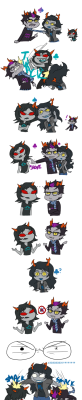 A Cute Little Ashen-Black Comic About Vriska Eridan And Terezi. Sincerest Apologies That The Image Is Small But If You Open It In A New Tab You Should Be Able To Enlarge It.