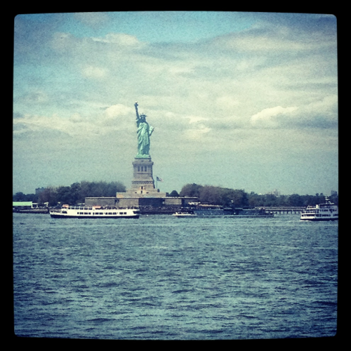 Statue of Liberty from the return State  Island ferry