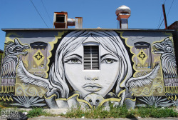 GRANILLA Mural - Oakland, CA on Flickr.Via Flickr: The artists name is smashed there in the right corner.  I had a hard time making out the last letter or two so we could be wrong.  —————————————————————————————- Daily Graffiti Photos and Street Art Culture… www.EndlessCanvas.com Follow us… Facebook, Tumblr, YouTube, Twitter