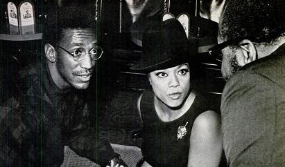 Hazel Scott chatting with Bill Cosby and James Moody (Yes, Moody's Mood for Love) in 1968 at a Los Angeles bar called Hong Kong. This photo was included in a March 1968 story about Ms. Scott in Ebony magazine.